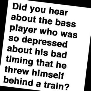 Depressed bass player