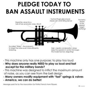 ban assult instruments