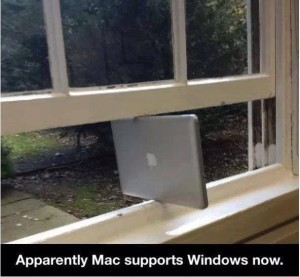 Apparently, Mac supports windows now.